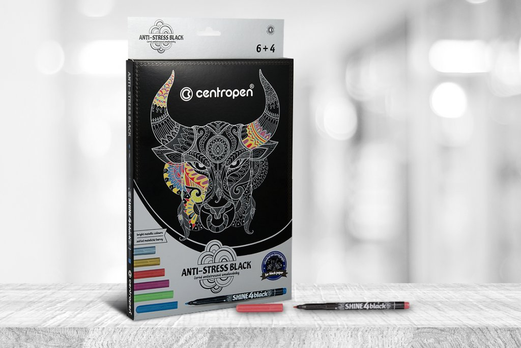 Obalový design - centropen black antistress