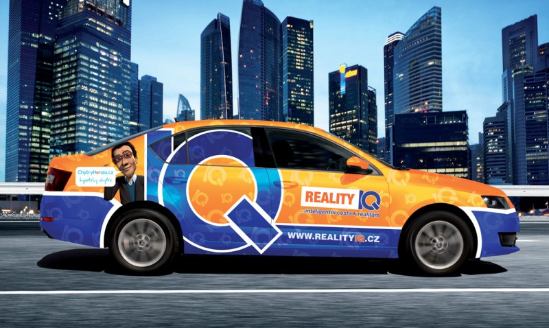 Reality IQ - polep automobilu